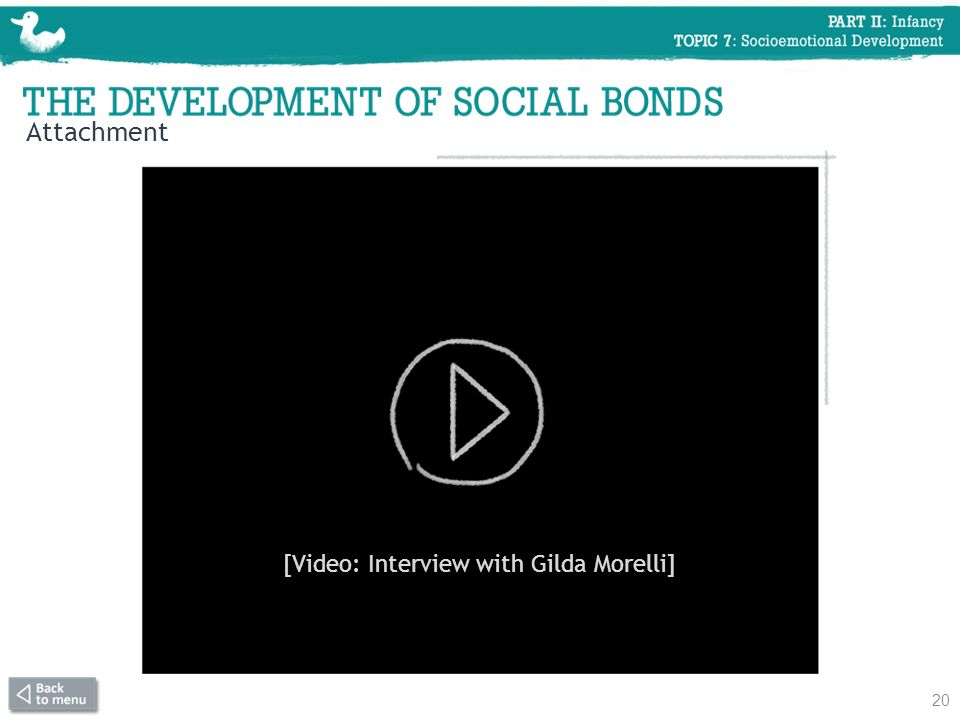 [Video: Interview with Gilda Morelli]